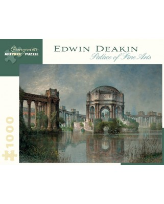 Puzzle Pomegranate - Edwin Deakin: Palace of Fine Arts and the Lagoon, c. 1915, 1.000 piese (AA900)