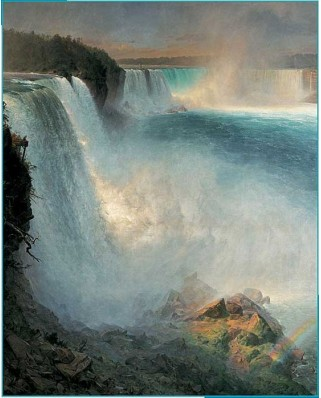 Puzzle Pomegranate - Frederic Edwin Church: Niagara, 1.000 piese (AA552)