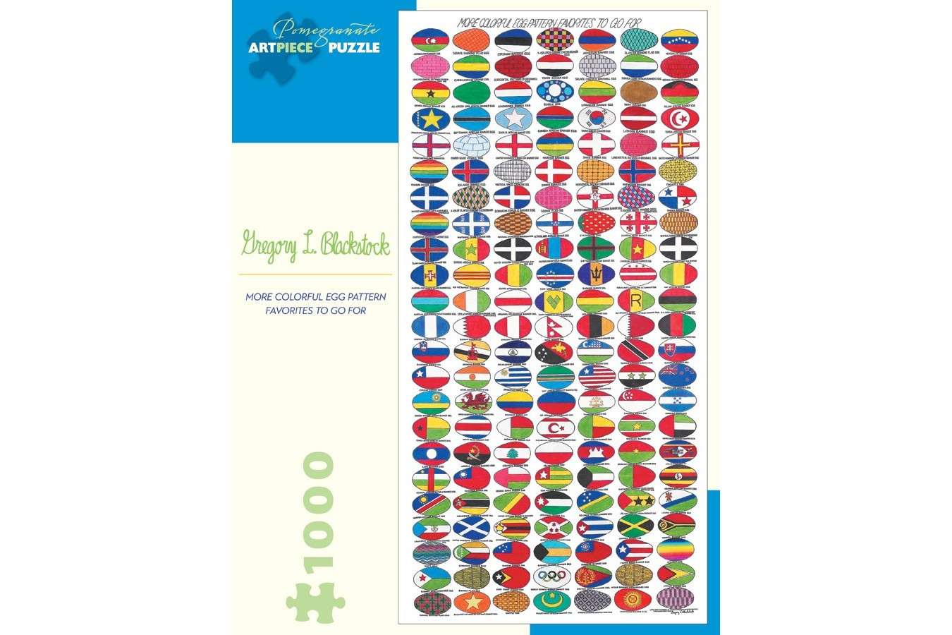 Puzzle Pomegranate - Gregory L. Blackstock: More Colorful Egg Pattern Favorites to Go For, 2005, 1.000 piese (AA888)