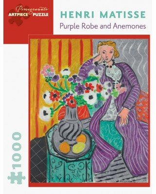 Puzzle Pomegranate - Henri Matisse: Purple Robe and Anemones, 1937, 1000 piese (AA877)