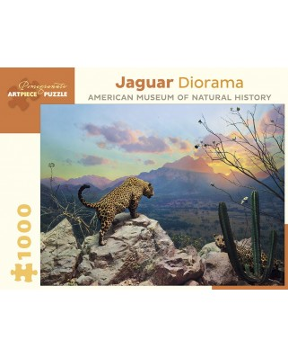 Puzzle Pomegranate - Jaguar Diorama - October at Sunset, Sonora, Mexico, 1.000 piese (AA956)