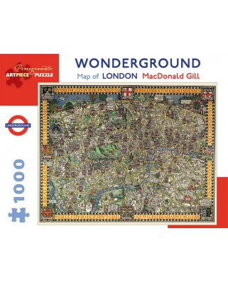 Puzzle Pomegranate - MacDonald Gill: Wonderground Map of London, 1.000 piese (AA920)
