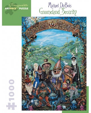 Puzzle Pomegranate - Michael DuBois: Gnomeland Security, 2004, 1.000 piese (AA923)