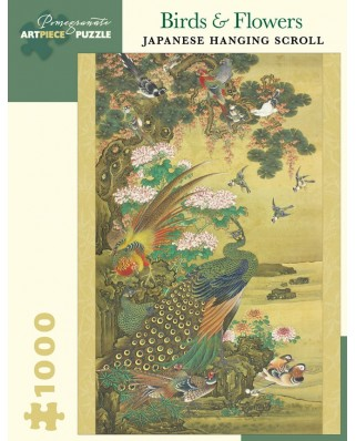 Puzzle Pomegranate - Nagasaki School - Peafowl, ducks, flowers and rocks, 1800-1880, 1.000 piese (AA1011)