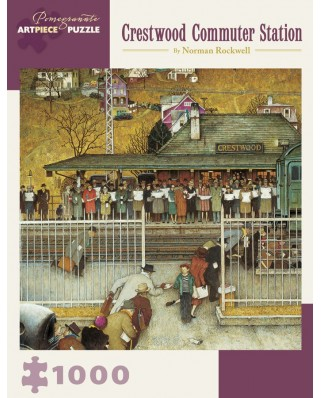 Puzzle Pomegranate - Norman Rockwell: Crestwood Commuter Station, 1946, 1.000 piese (AA908)