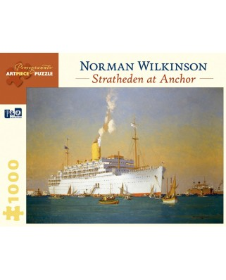 Puzzle Pomegranate - Norman Wilkinson: Stratheden at Anchor, 1.000 piese (AA842)