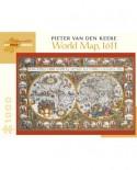 Puzzle Pomegranate - Pieter van den Keere: World Map, 1611, 1.000 piese (AA902)