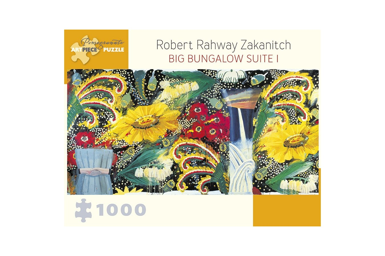 Puzzle Pomegranate - Robert Rahway Zakanitch: Big Bungalow Suite I, 1990-91, 1.000 piese (AA961)