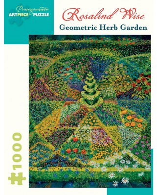 Puzzle Pomegranate - Rosalind Wise: Geometric Herb Garden, 1.000 piese (AA924)