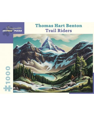 Puzzle Pomegranate - Thomas Hart Benton: Trail Riders, 1964/1965, 1.000 piese (AA962)