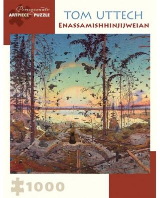 Puzzle Pomegranate - Tom Uttech: Enassamishhinjijweian, 2009, 1.000 piese (AA928)