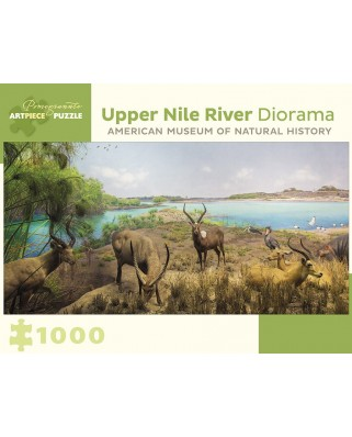 Puzzle Pomegranate - Upper Nile River Diorama - 150 Miles Southwest of Lake No, South Sudan, 1.000 piese (AA957)