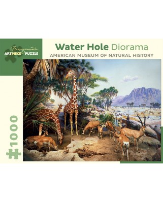 Puzzle Pomegranate - Water Hole Diorama - American Museum of Natural History, 1.000 piese (AA939)