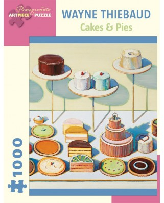 Puzzle Pomegranate - Wayne Thiebaud: Cakes and Pies, 1000 piese (AA834)