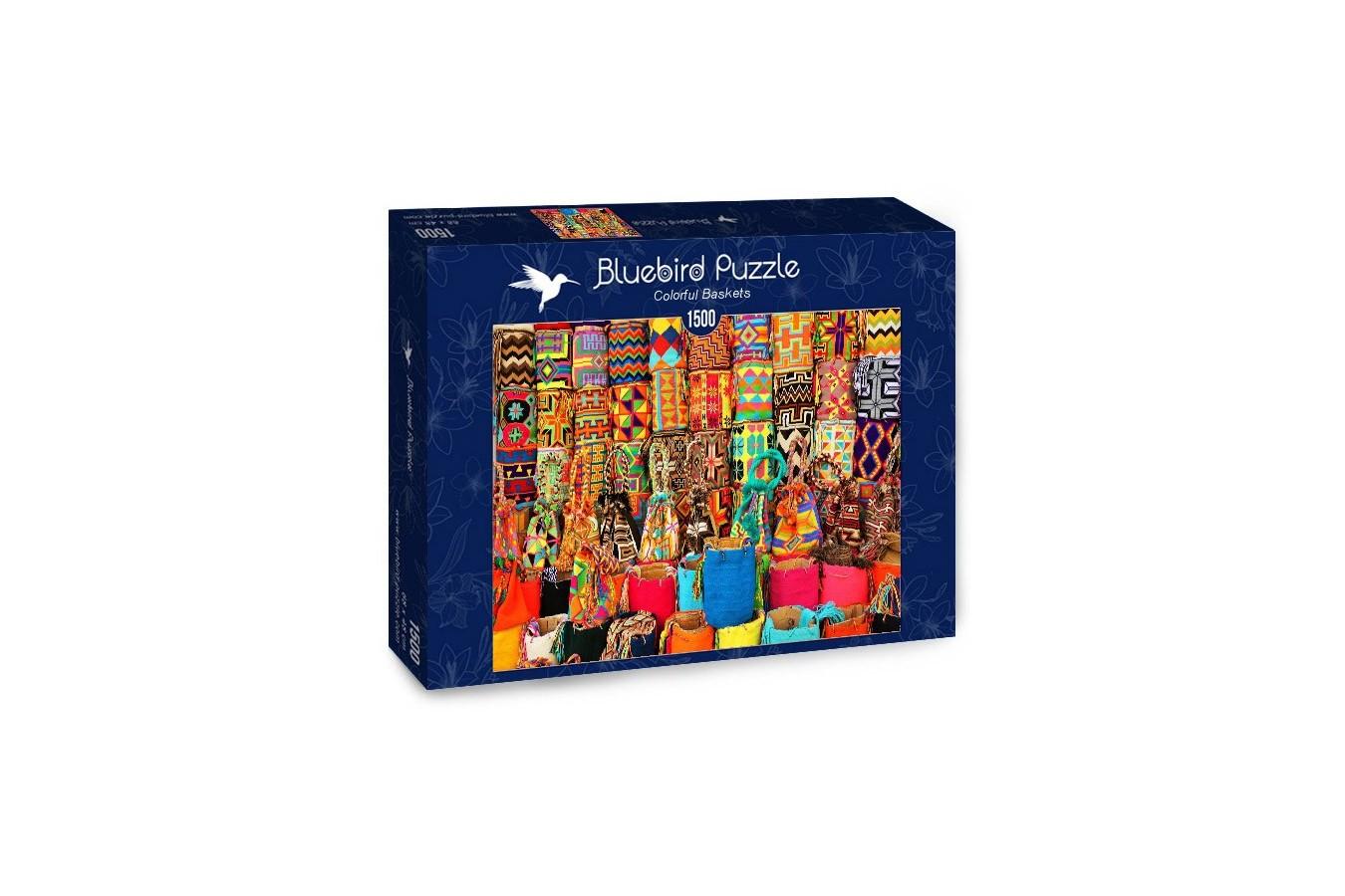 Puzzle Bluebird Puzzle - Colorful Baskets, 1500 piese (Bluebird-Puzzle-70223)