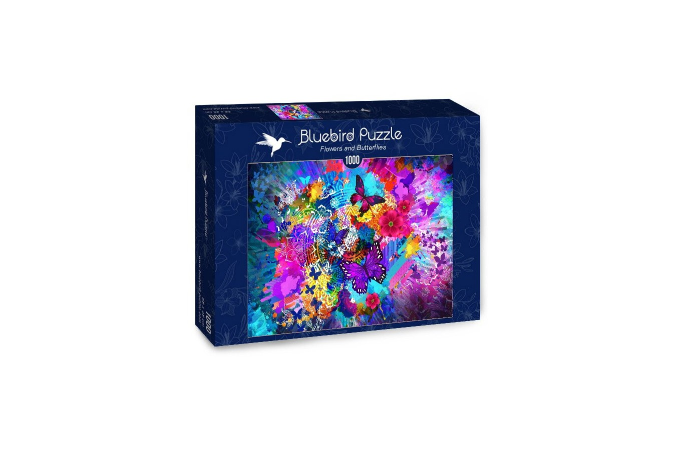 Puzzle Bluebird Puzzle - Flowers and Butterflies, 1.000 piese (Bluebird-Puzzle-70219)
