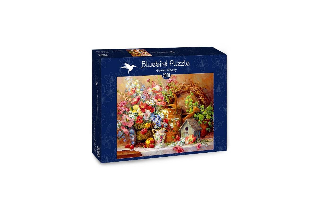 Puzzle Bluebird Puzzle - Garden Medley, 2.000 piese (Bluebird-Puzzle-70218)