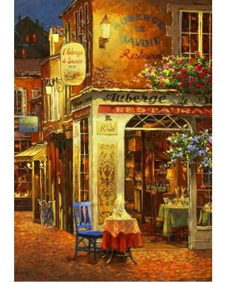 Puzzle Bluebird Puzzle - Viktor Shvaiko: Auberge de Savoie Restaurant, 1.000 piese (Bluebird-Puzzle-70214)
