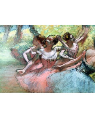 Puzzle Ravensburger - Edgar Degas: Four Ballerinas on Stage, 1.000 piese (14847)