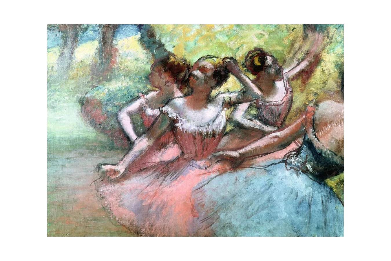 Puzzle Ravensburger - Edgar Degas: Four Ballerinas on Stage, 1.000 piese (14847)