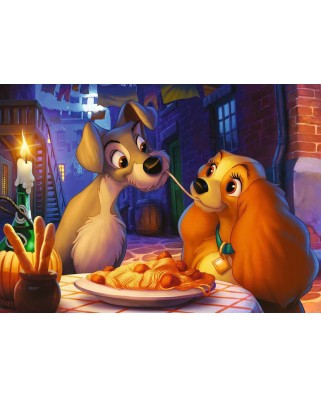 Puzzle Ravensburger - Lady and the Tramp, 1.000 piese (13972)