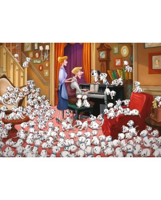 Puzzle Ravensburger - One Hundred and One Dalmatians, 1.000 piese (13973)