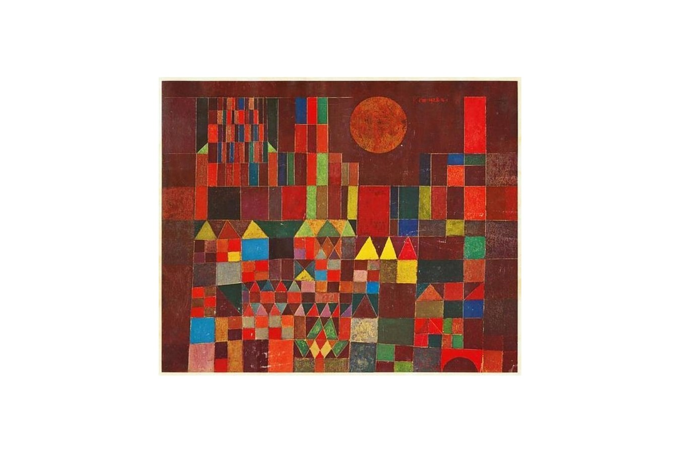 Puzzle Ravensburger - Paul Klee: Castle and Sun, 300 piese (14844)