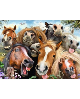 Puzzle Ravensburger - Selfies - Horsing Around, 500 piese (14695)