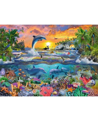 Puzzle Ravensburger - Tropical Paradise, 100 piese XXL (10950)