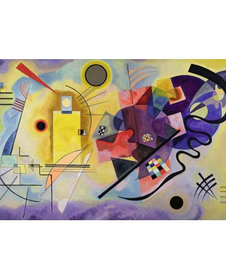 Puzzle Ravensburger - Vassily Kandinsky: Yellow - Red - Blue, 1.000 piese (14848)