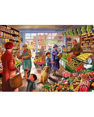 Puzzle Bluebird - Steve Crisp: Village Greengrocer, 1.000 piese (Bluebird-Puzzle-70232-P)