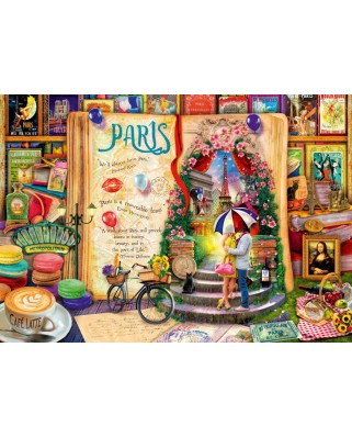 Puzzle Bluebird - Aimee Stewart: Life is an Open Book Paris, 1000 piese (Bluebird-Puzzle-70239-P)