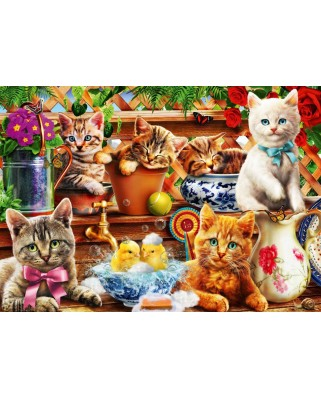 Puzzle Bluebird - Kittens in the Potting Shed, 1000 piese (Bluebird-Puzzle-70241-P)