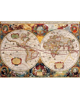 Puzzle Bluebird - Antique World Map, 1.000 piese (Bluebird-Puzzle-70246-P)