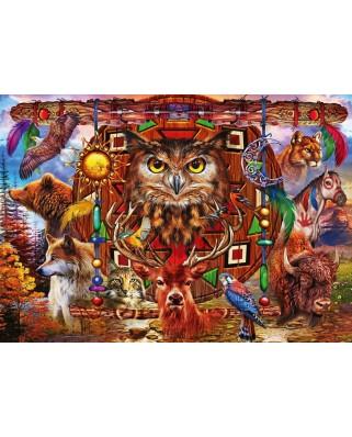 Puzzle Bluebird - Marchetti Ciro: Animal Totem, 1.000 piese (Bluebird-Puzzle-70247-P)