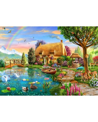 Puzzle Bluebird - Lakeside Cottage, 6.000 piese (Bluebird-Puzzle-70254-P)