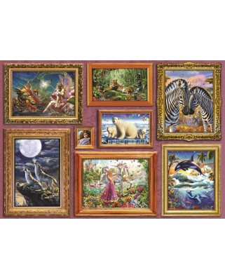 Puzzle Bluebird - Girl's 8 Gallery, 6.000 piese (Bluebird-Puzzle-70261-P)