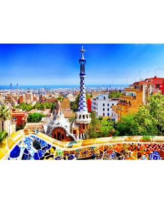 Puzzle Bluebird - Park Guell, Barcelona, 1.000 piese (Bluebird-Puzzle-70273)