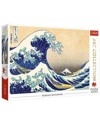 Puzzle Trefl - Katsushika Hokusai: The Great Wave of Kanagawa, 1.000 piese (10521)