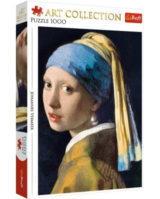 Puzzle Trefl - Johannes Vermeer: Girl with a Pearl Earring, 1000 piese (10522)