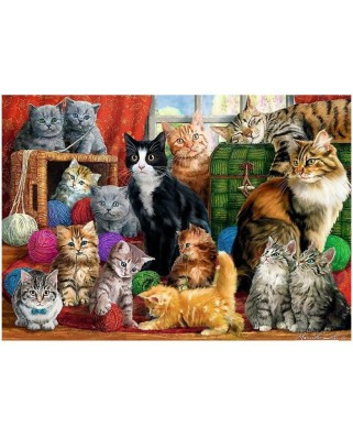 Puzzle Trefl - Cats Meeting, 1.000 piese (10555)