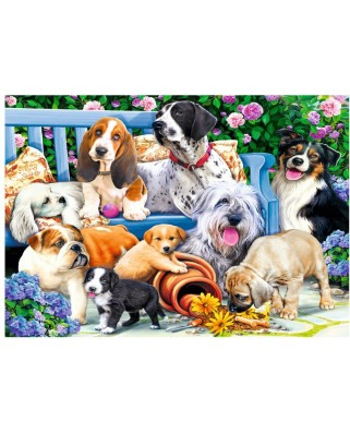 Puzzle Trefl - Dogs in the Garden, 1.000 piese (10556)