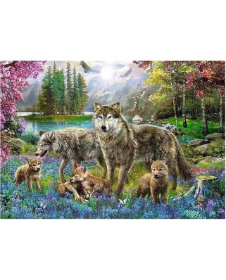 Puzzle Trefl - Wolf Family, 1.000 piese (10558)