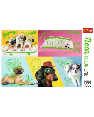 Puzzle Trefl - Neon Color Line - Dogs, 1.000 piese (10578)