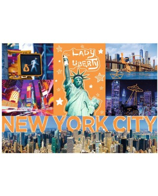 Puzzle Trefl - Neon Color Line - New York City, 1.000 piese (10579)