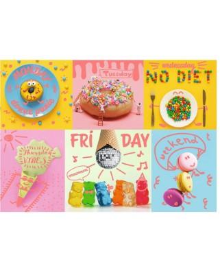 Puzzle Trefl - Neon Color Line - Sweet Week, 1.000 piese (10580)