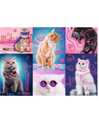 Puzzle Trefl - Neon Color Line - Cats, 1.000 piese (10581)