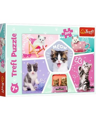 Puzzle Trefl - Cats, 200 piese (13247)