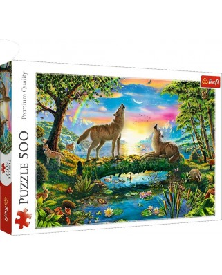 Puzzle Trefl - Wolves, 500 piese (37349)