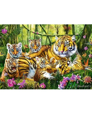 Puzzle Trefl - The Tiger Family, 500 piese (37350)
